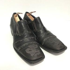 Mark Nason Rock Lives Dragon Loafers Size 8 67450